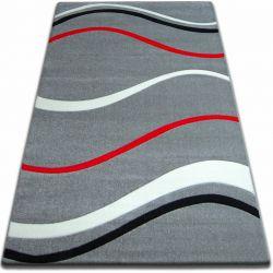 Koberec FOCUS - 8732 šedá červená